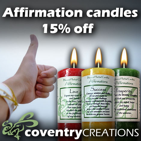 Affirmation candles 15% off