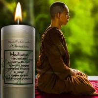 Meditation Affirmation Candle