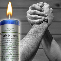 Truth and Justice Blessed Herbal Candle