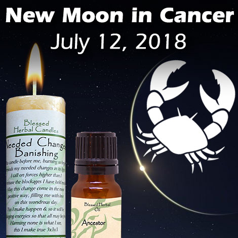 New moon in Cancer July 12, 2018