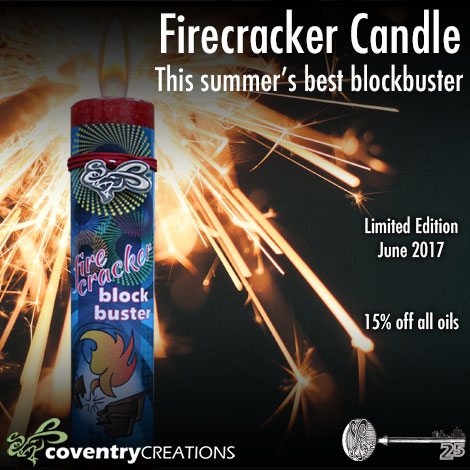 Coventry Creations Presents the Firecracker Candle! Busting spiritual Roadblocks!